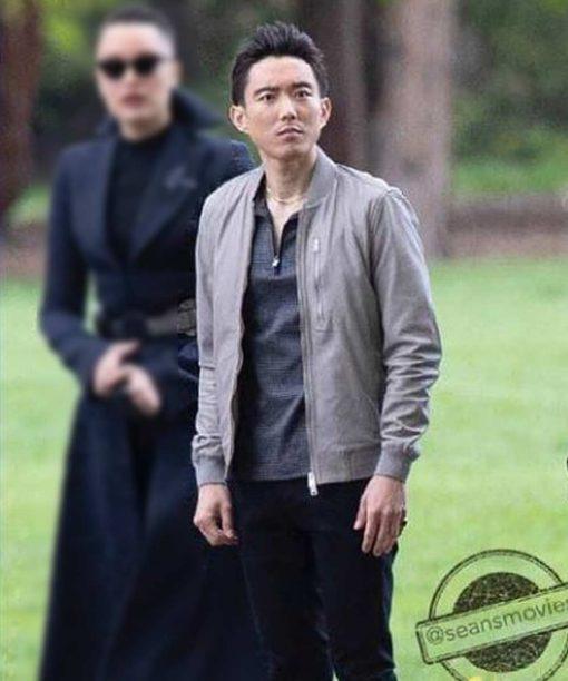 The Umbrella Academy S03 Justin H. Min Grey Bomber Jacket